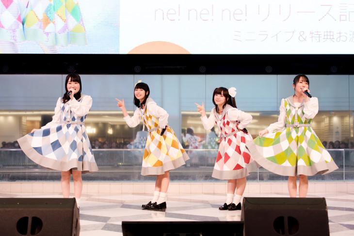 STARTails☆「ne! ne! ne!」発売記念イベントの様子。(撮影:塚越淳一)