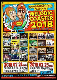 「MELODIC COASTER 2018」告知画像