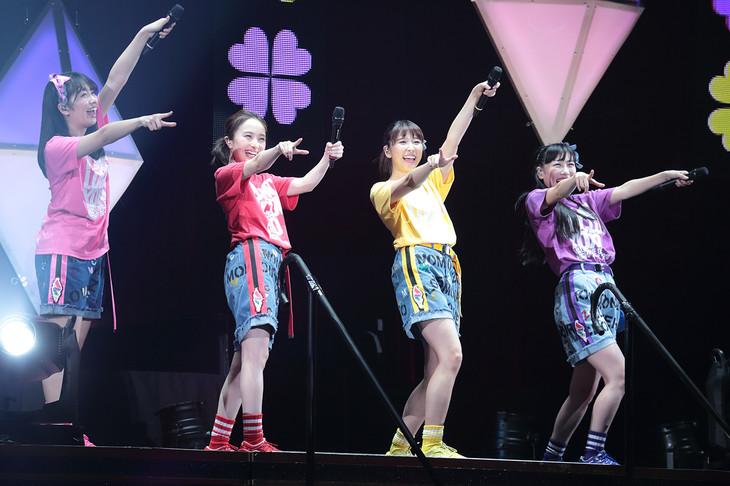 「ニッポン放送 ももいろクローバーZ ももクロくらぶxoxo ~バレンタイン DE NIGHT だぁ~Z! 2018」2月11日「表」公演の様子。(写真提供:ニッポン放送)