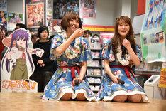 反省するKaede(左)とNao☆(右)。