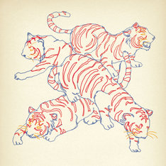 パスピエ「ネオンと虎」通常盤、P.S.P.E限定盤ジャケット