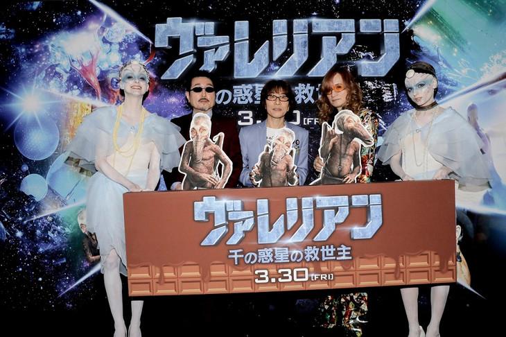 「ヴァレリアン 千の惑星の救世主」日本語吹替版完成披露イベントに登壇したTHE ALFEE。