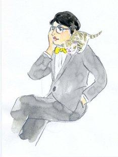 ほしよりこが描いた岡村靖幸のイラスト。