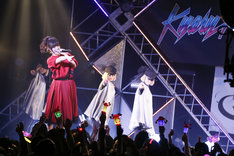 """「SPACE SHOWER TV """"LIVE with YOU"""" ~きゃりーぱみゅぱみゅ~supported by uP!!!」の様子。(撮影:石井亜希)"""