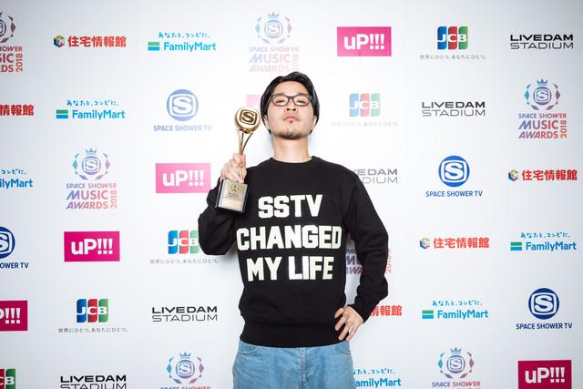 「BEST HIP HOP ARTIST」を受賞したPUNPEE。