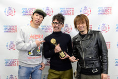 「BEST PUNK / LOUD ROCK ARTIST」を受賞したHi-STANDARD。