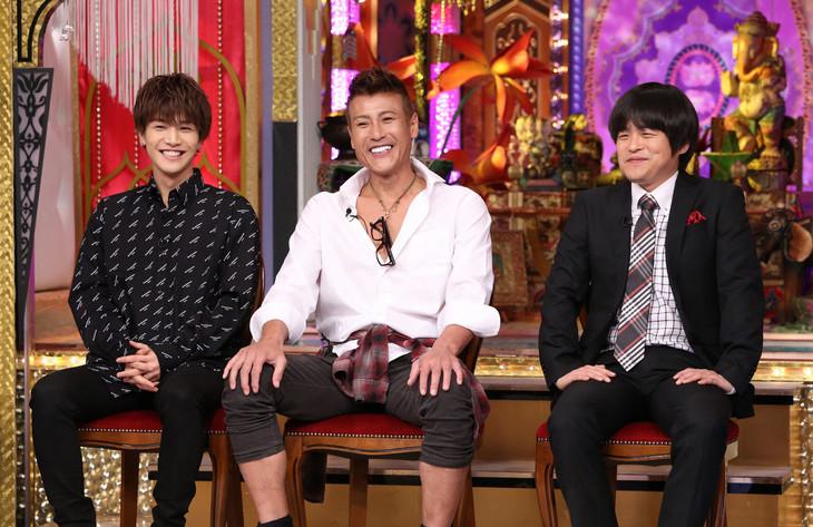 左から岩田剛典、新庄剛志、バカリズム。(c)日本テレビ