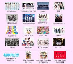 「TOKYO IDOL FESTIVAL 2018」出演アイドル第2弾でエントリーされた19組。