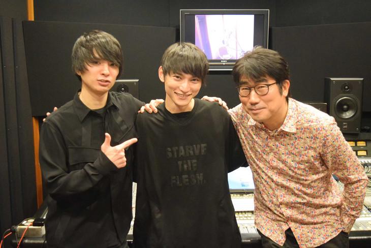 左から斎藤宏介(UNISON SQUARE GARDEN)、SKY-HI、亀田誠治。
