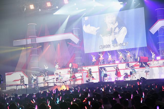 研究生メンバーを含めて「NGT48」を披露するNGT48。