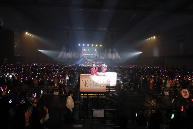 「NGT48 単独コンサート~朱鷺は来た!新潟から全国へ!~」の様子。(c)AKS