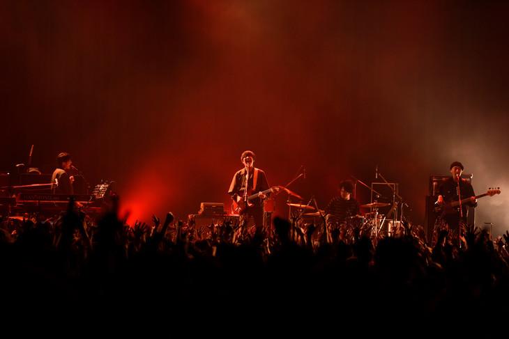 """「フジファブリック LIVE TOUR 2018 """"帰ってきた!!三日月ADVENTURE""""」東京・Zepp DiverCity TOKYO公演の様子。(撮影:河本悠貴)"""
