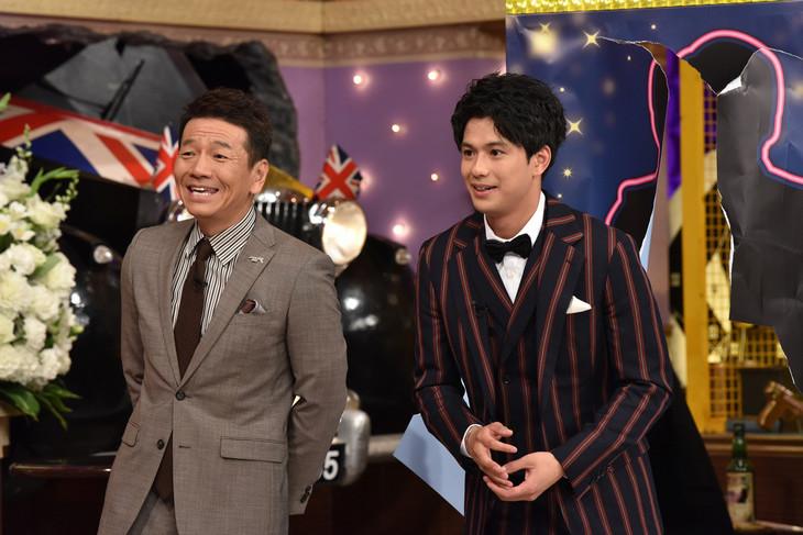 上田晋也(くりぃむしちゅー)と森崎ウィン(PrizmaX)。(c)日本テレビ