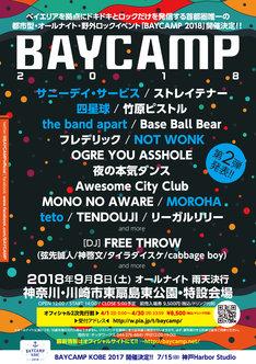 「BAYCAMP 2018」第2弾発表ビジュアル