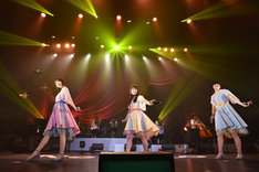 Negicco「世田谷コンサート」の様子。
