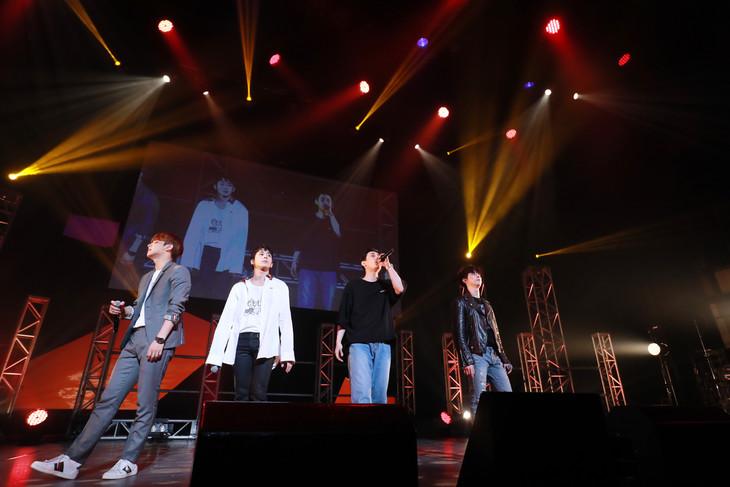 「MYNAME Fan Meeting 2018~Fighting!!!!」の様子。 (c)irving