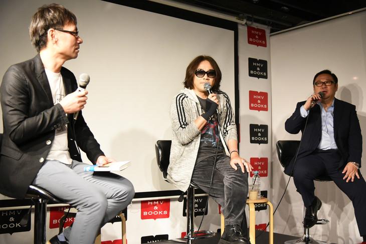 左から姉帯恒氏、I.N.A.、松本裕士氏。