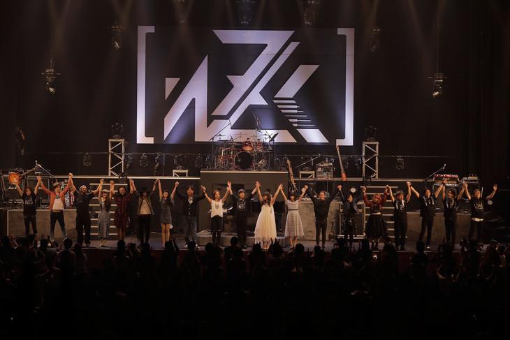 「澤野弘之 LIVE [nZk]005」アンコールの様子。(Photo by Taichi Nishimaki)