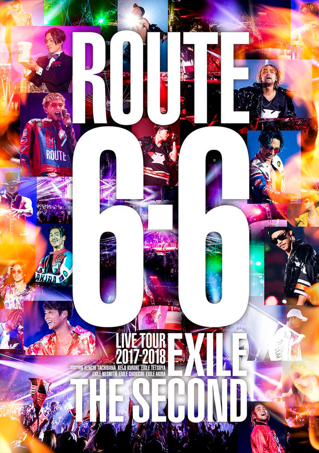 "EXILE THE SECOND「EXILE THE SECOND LIVE TOUR 2017-2018 ""ROUTE 6・6""」ジャケット"