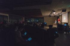 「ガラパゴス」公開取材イベントの様子。(Photo by Mariko Kurose)