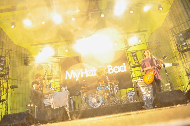 My Hair is Bad「オーガニックホームランツアー」東京・日比谷野外大音楽堂公演の様子。