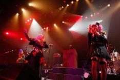 Psycho le Cemu「TOUR 2018 Doppelganger ~ゲルニカ団 漆黒の48時間~」の様子。
