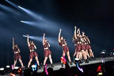 「アンジュルム コンサートツアー 2018春 十人十色 +」東京・日本武道館公演の様子。
