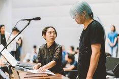 小林うてな(Steelpan)とK-Ta(Marimba)。(撮影:後藤健浩)