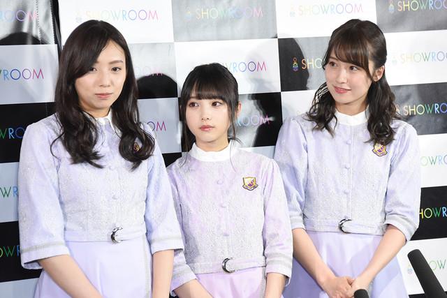 左から乃木坂46の新内眞衣、与田祐希、衛藤美彩。