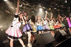 「A応P 2nd LIVE TOUR 2018 アニメがなくちゃ戦えない!」東京・渋谷CLUB QUATTRO公演の様子。