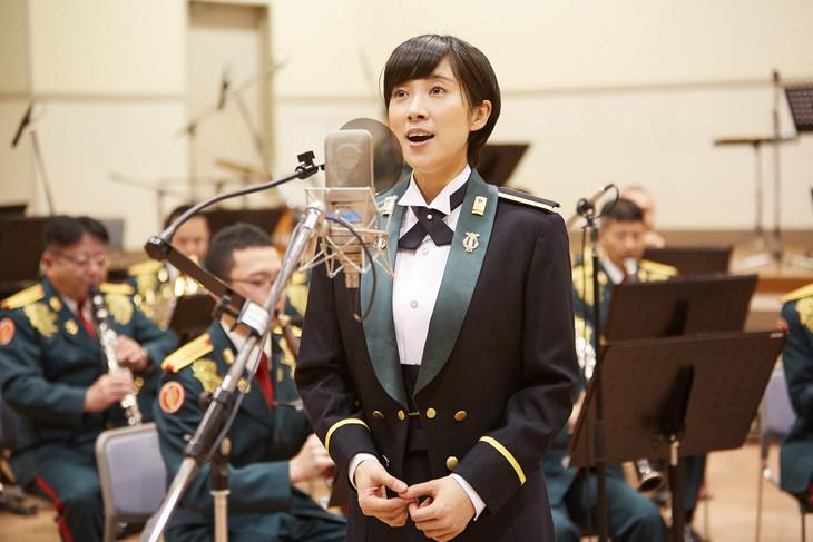 陸上自衛隊中部方面音楽隊「いのちの音」ミュージックビデオ撮影の様子。