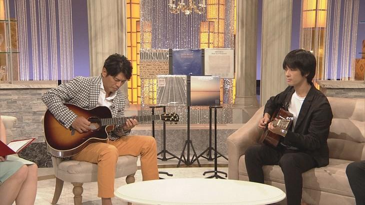 左から高橋克典、トクマルシューゴ。(写真提供:NHK)