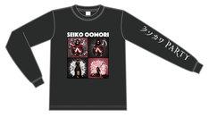 大森靖子「クソカワPARTY」diskunion限定ロングTシャツのデザイン。