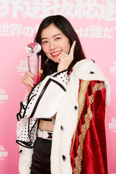 「AKB48 53rdシングル 世界選抜総選挙 ~世界のセンターは誰だ?~」1位に輝いたSKE48・松井珠理奈。(c)AKS (c)TOKYO IDOL FESTIVAL 2018