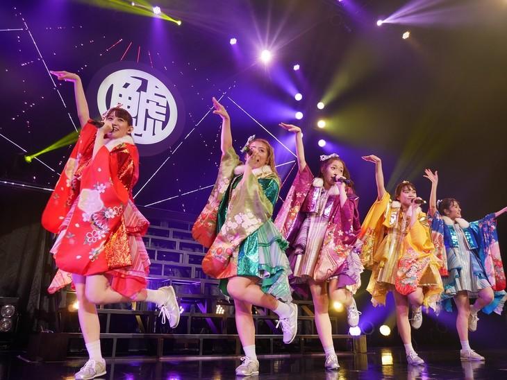 「チームしゃちほこ SPRING TOUR 2018 ~日本中でJUMP MAN!?幸せの使者は君だッ!~」愛知・Zepp Nagoya公演の様子。