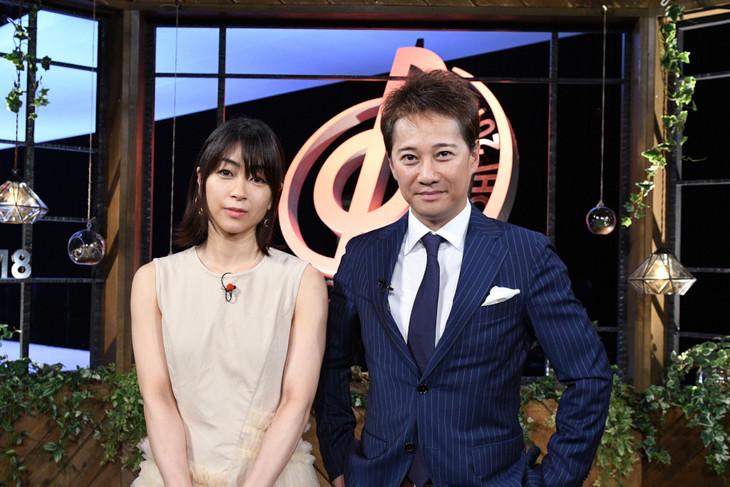 左から宇多田ヒカル、中居正広。(c)TBS