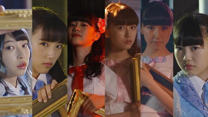 ときめき▽宣伝部「乙女のグロリアス」ミュージックビデオのワンシーン。