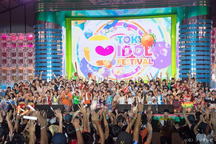 「TOKYO IDOL FESTIVAL 2017」グランドフィナーレの様子。(c)フジテレビ