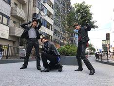 ローラー族に扮した(左から)リョウガ、カイ、ユーキ。(c)日本テレビ