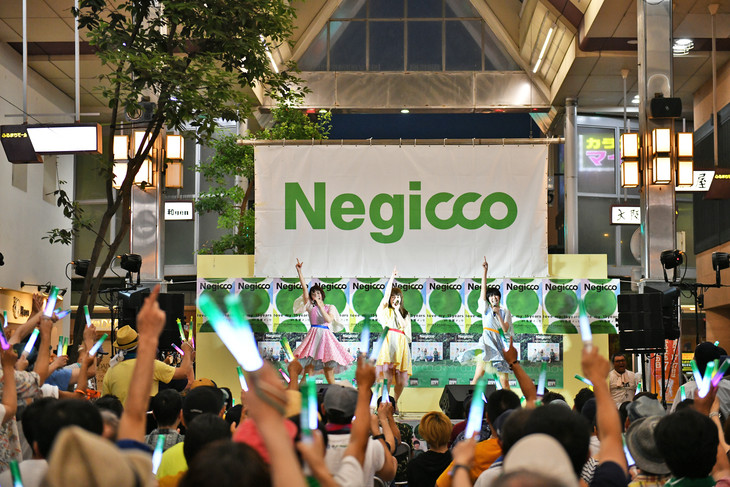 Negicco「FURUMACHI LIVE 2018.07.20」の様子。