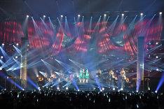 Negicco結成15周年記念ライブ「love my 15years at 朱鷺メッセ」の様子。