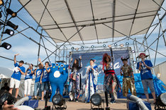「ペプシ Jコーラお祭りライブ」の様子。