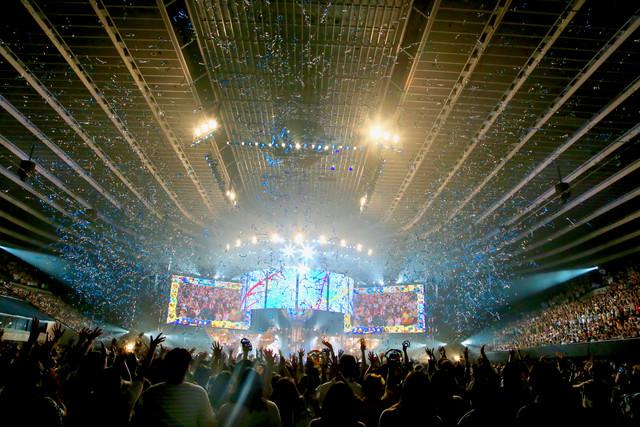 ゆず「YUZU ARENA TOUR 2018 BIG YELL II ~Great Voyage~」最終公演の様子。(写真提供:トイズファクトリー)