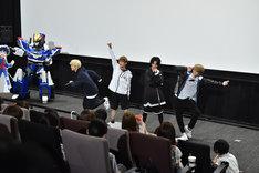 EBiSSHによる「GO!!!」のパフォーマンスの様子。(c)TBS