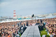 「GLAY × HOKKAIDO 150 GLORIOUS MILLION DOLLAR NIGHT vol.3」8月25日公演の様子。