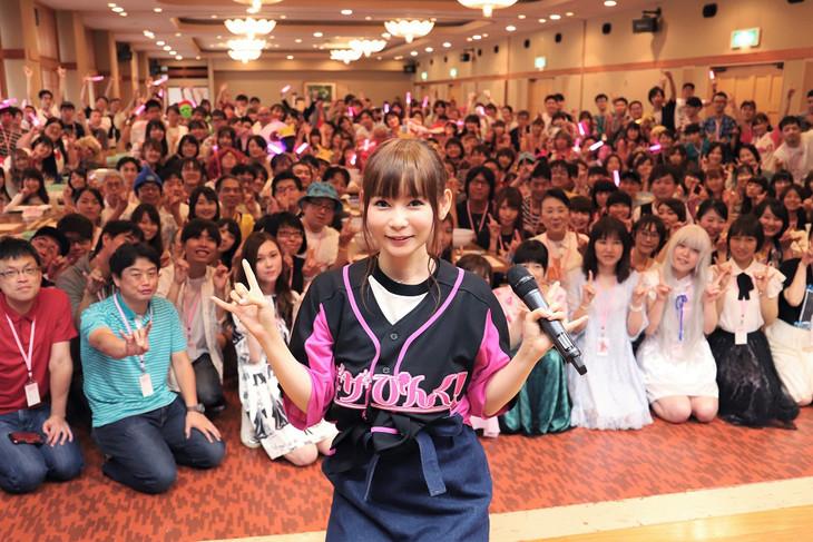 本日9月1日に行われた中川翔子ファンクラブイベントの様子。(写真提供:ソニー・ミュージックレーベルズ)