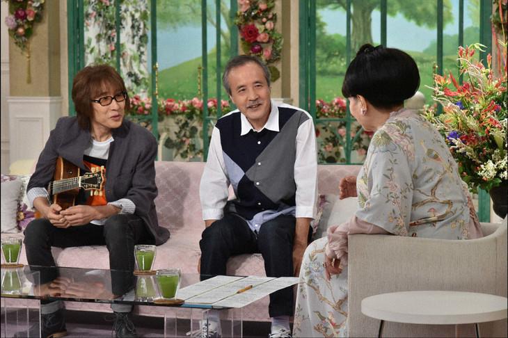 左から坂崎幸之助、岡林信康、黒柳徹子。(c)テレビ朝日