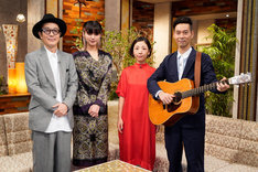 左からリリー・フランキー、池田エライザ、ハンバート ハンバート。(写真提供:NHK)