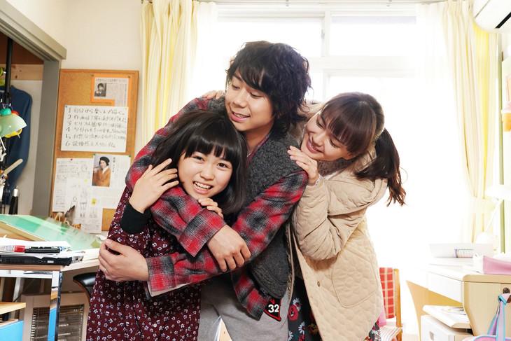 映画「トラさん」高畑家の家族写真。