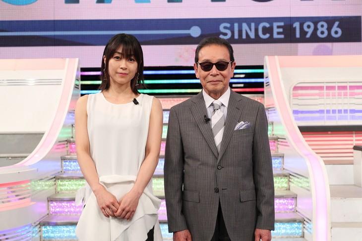 宇多田ヒカルとタモリ。(c)テレビ朝日